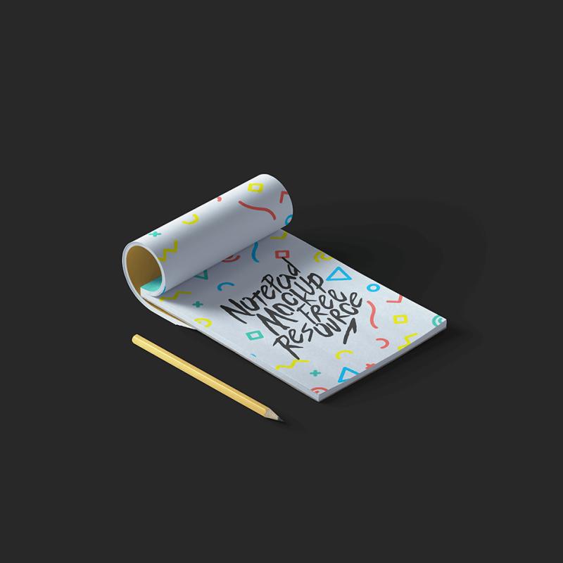 Classic-Free-Notepad-Mockup