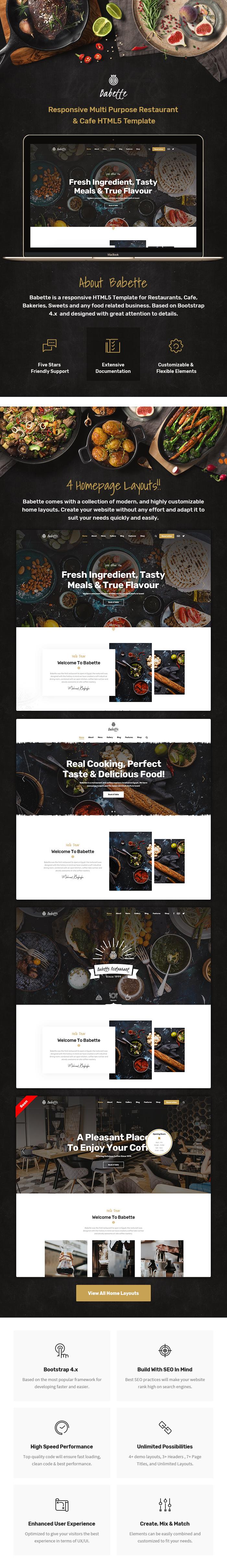 Babette - Restaurant & Cafe HTML5 Template - 2