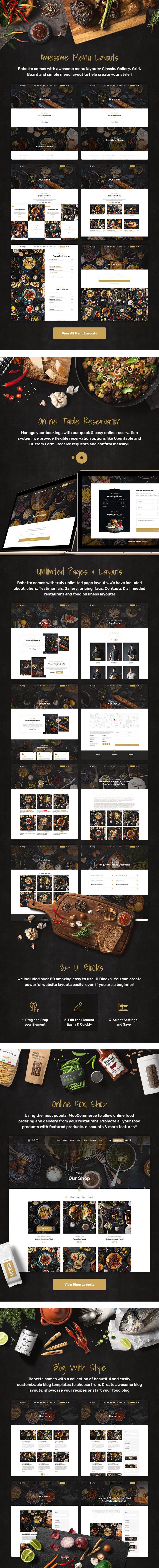 Babette - Restaurant & Cafe HTML5 Template - 3