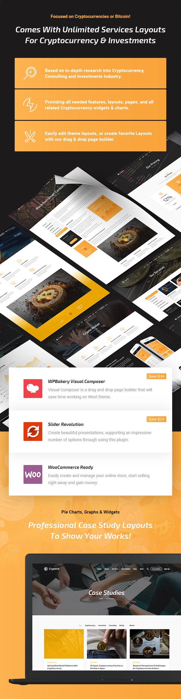Cryptech - Investments, Consulting, ICO and Cryptocurrency WordPress Theme - 5