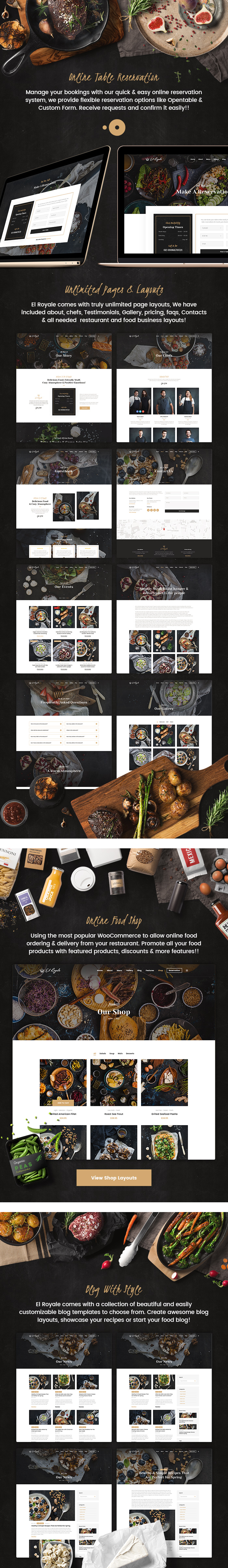 Elroyale - Restaurant & Cafe HTML5 Template - 3