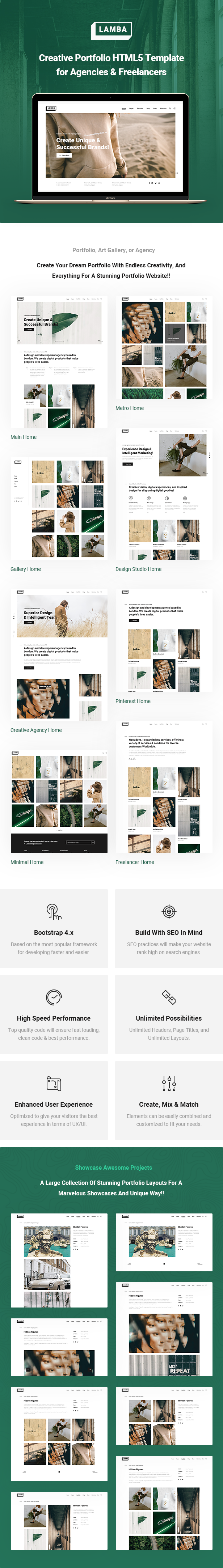 Lamba - Creative Portfolio & Agency HTML5 Template - 5