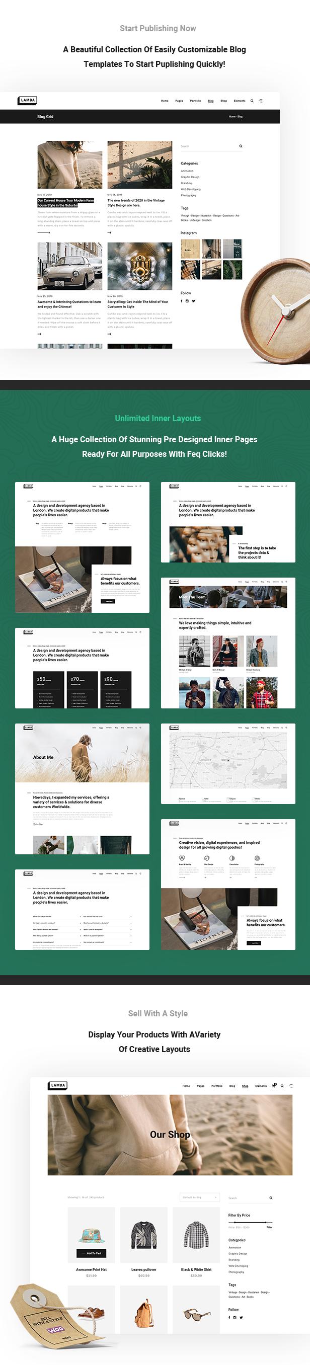 Lamba - Creative Portfolio & Agency HTML5 Template - 6