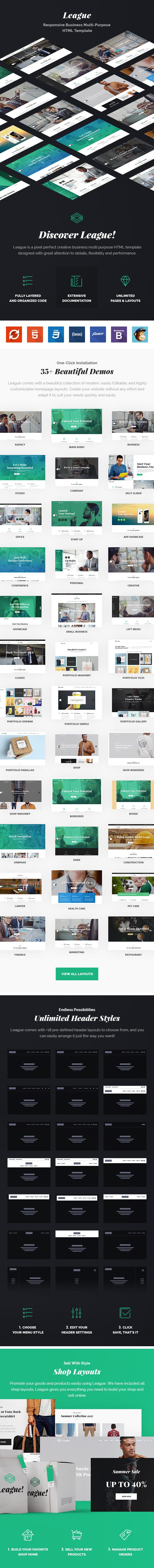 League – Multi-purpose Business HTML Template - 4
