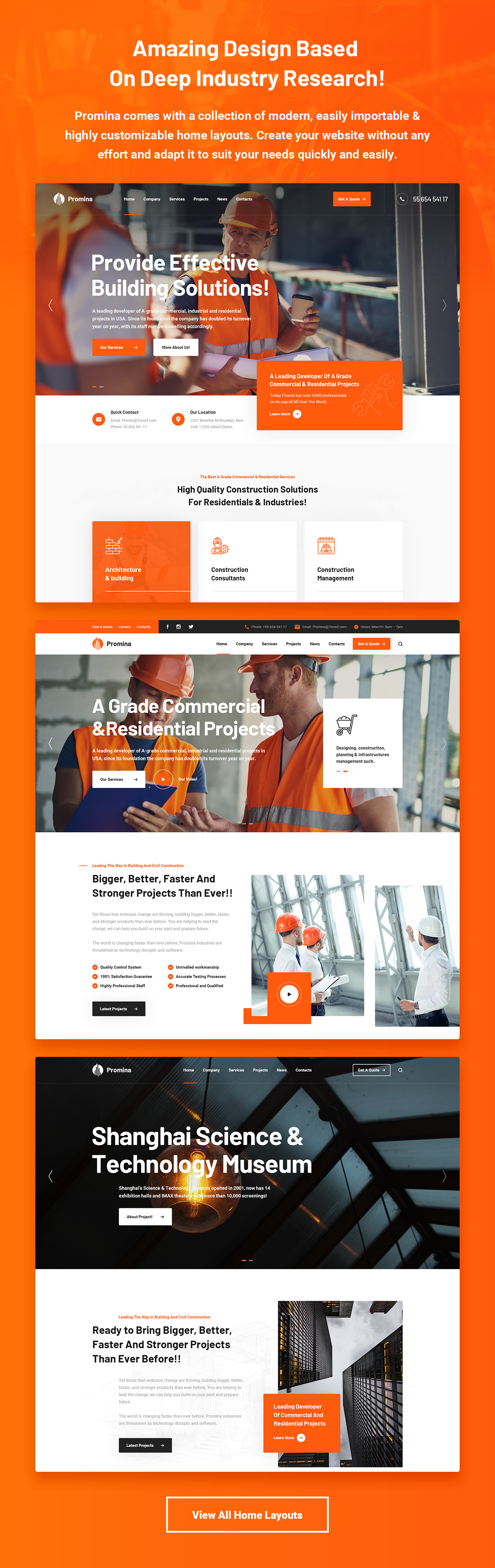 Promina - Construction and Building HTML5 Template - 6