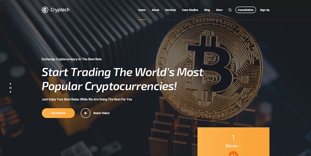 Cryptech WordPress Theme