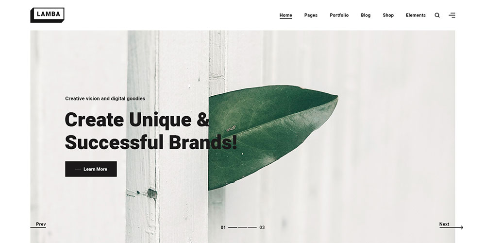Lamba WordPress Theme