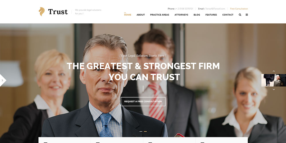 Trust WordPress Theme