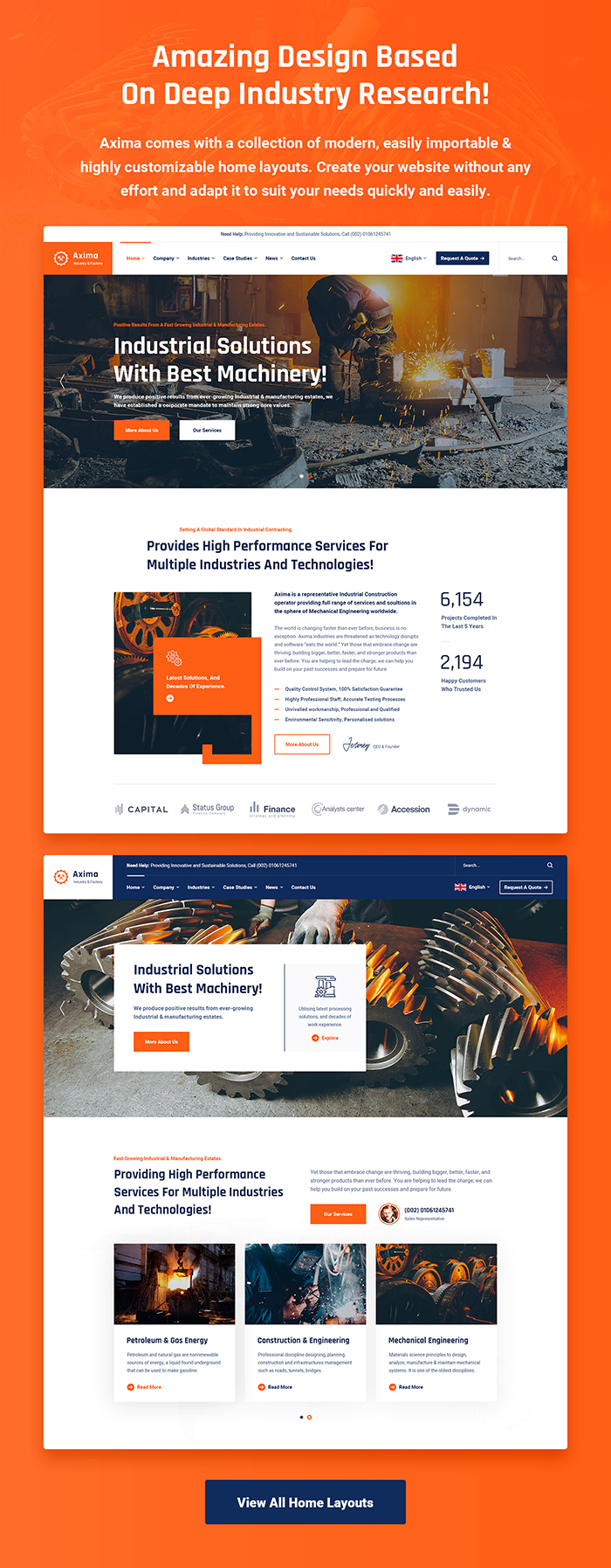 Axima - Factory and Industry WordPress Theme - 5