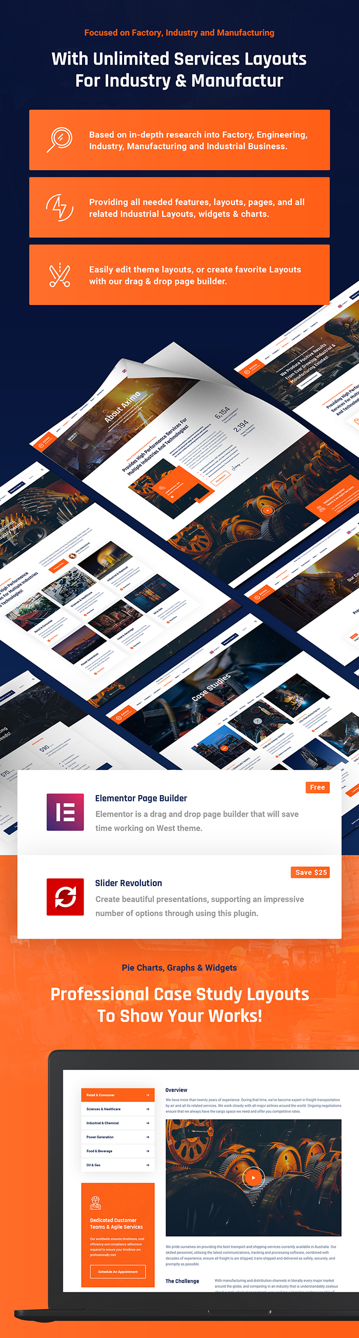 Axima - Factory and Industry WordPress Theme - 6