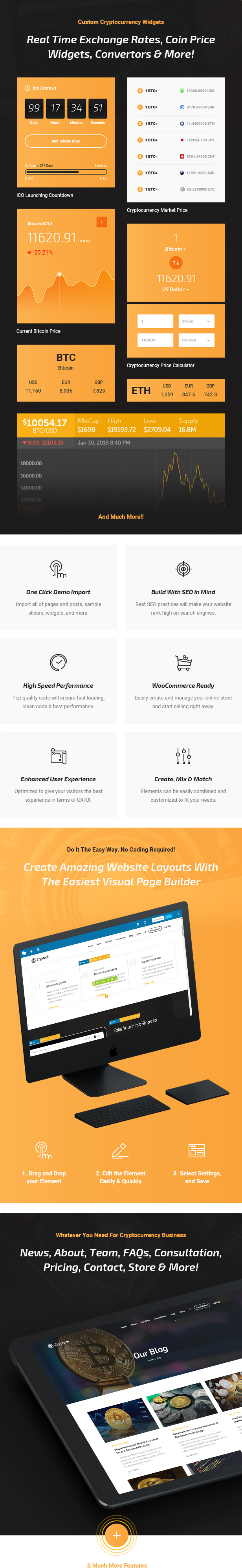 Cryptech - ICO and Cryptocurrency WordPress Theme - 6