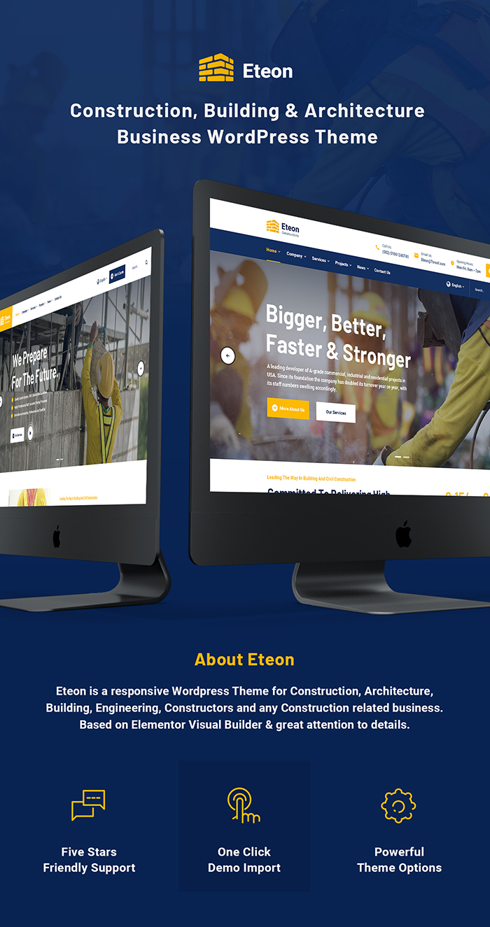 Eteon - Construction And Building WordPress Theme - 4