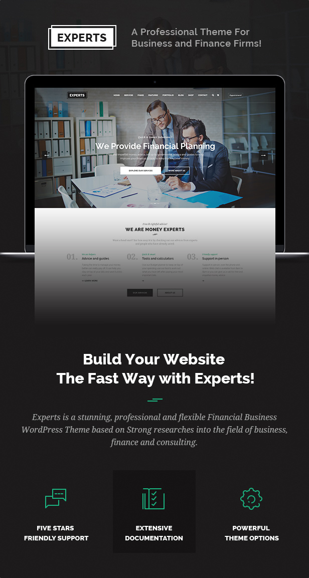 Finanzielle Beratung Makler Business WordPress-Theme