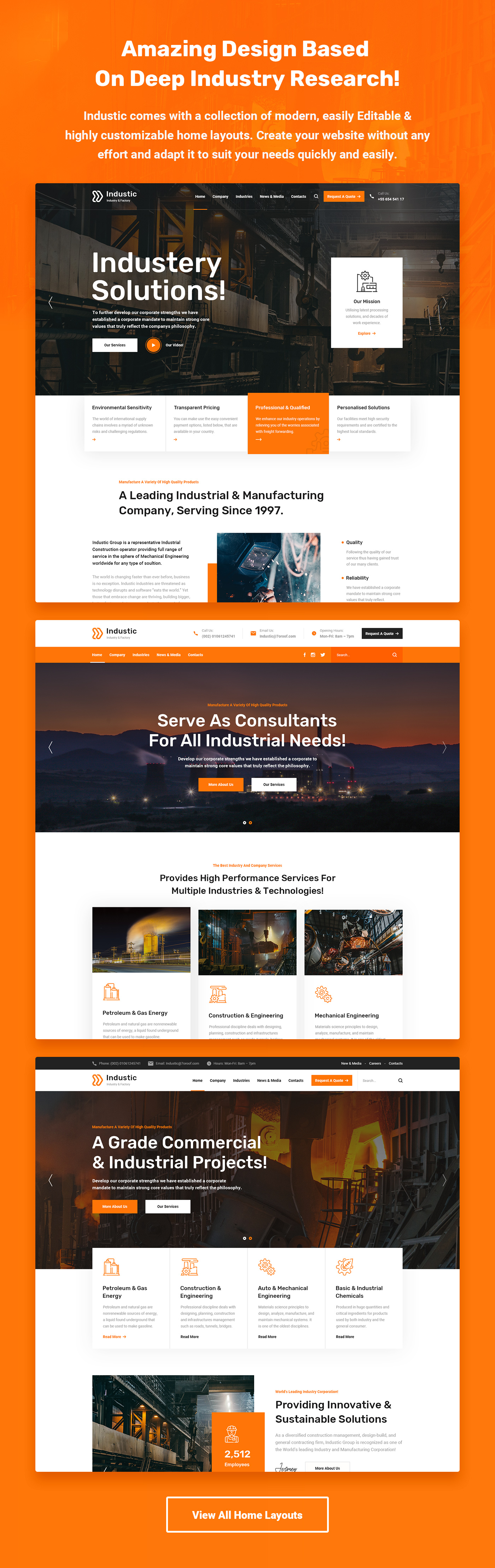 Industic - Factory and Manufacturing HTML5 Template - 6