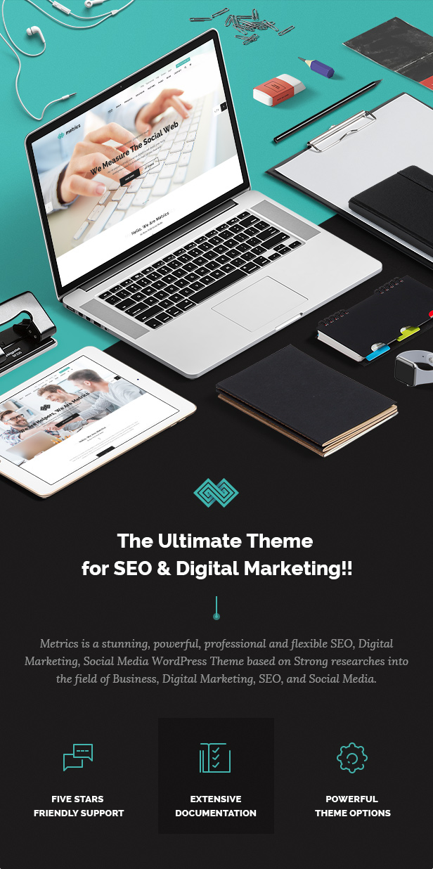 SEO Metrics - SEO, Digital Marketing, Social Media WordPress Theme - 4