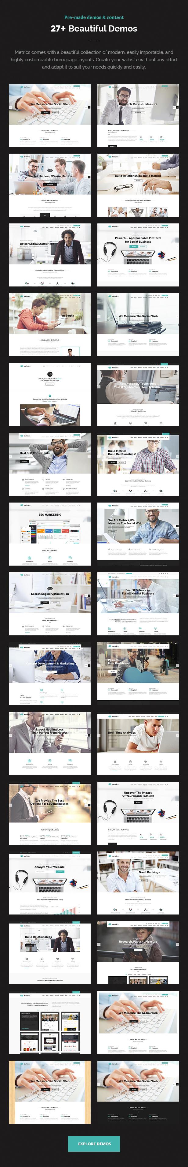 SEO Metrics - SEO, Digital Marketing, Social Media WordPress Theme - 5