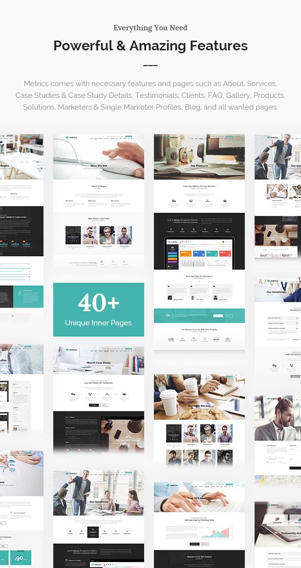 SEO Metrics - SEO, Digital Marketing, Social Media WordPress Theme - 8