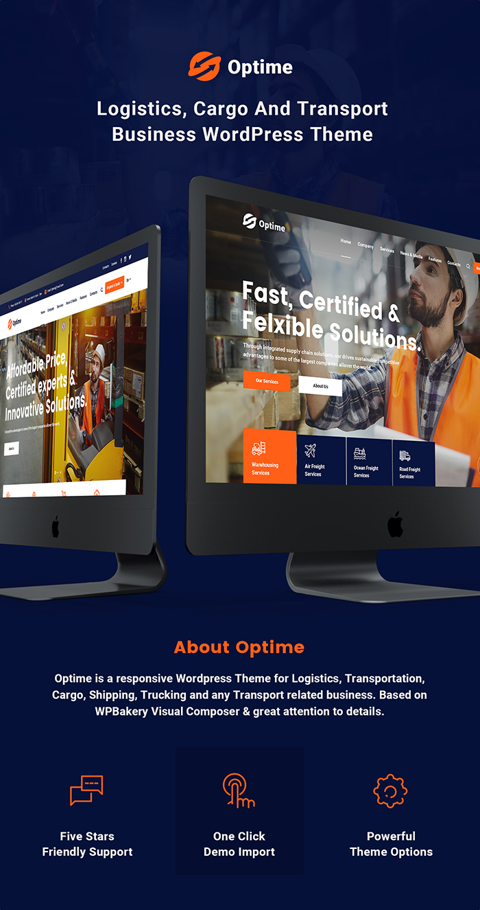 Optime - Logistics & Transportation WordPress Theme - 4