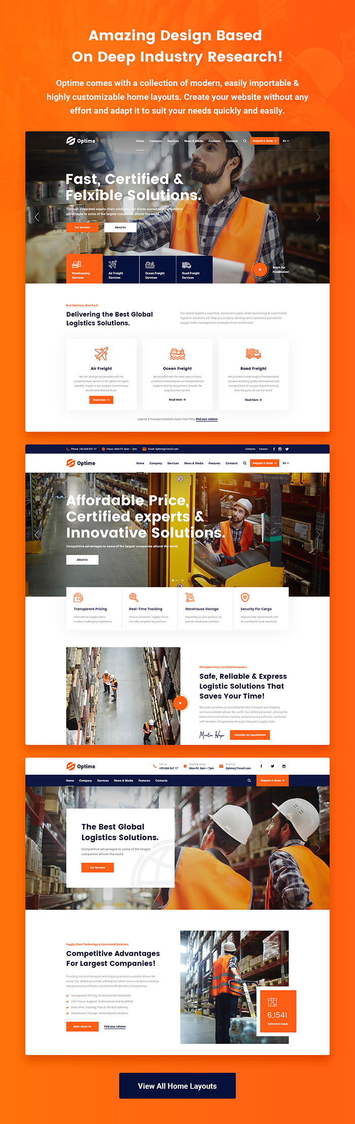 Optime - Logistics & Transportation WordPress Theme - 5