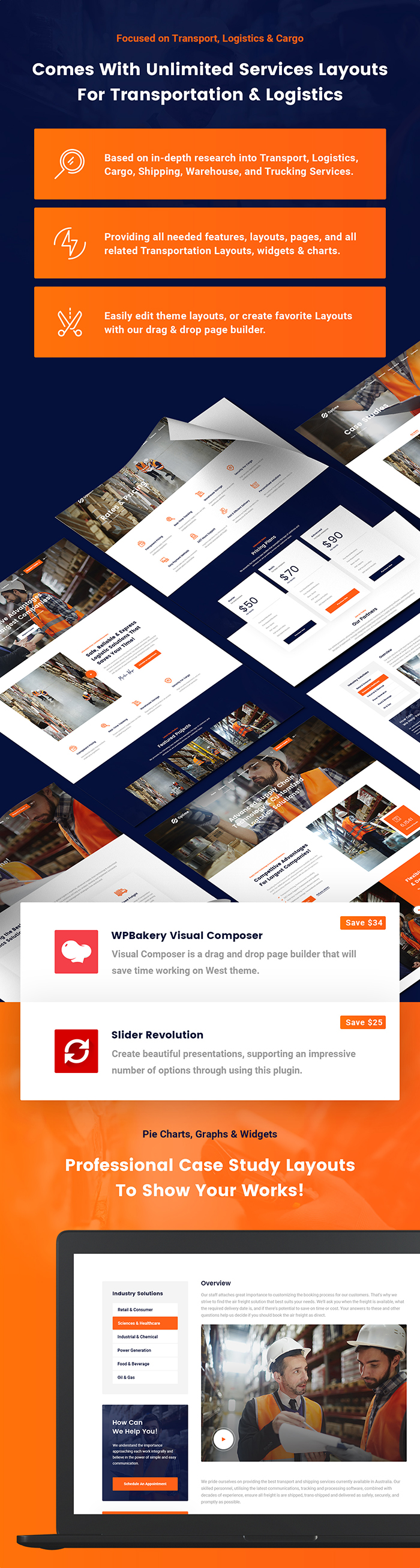 Optime - Logistics & Transportation WordPress Theme - 6