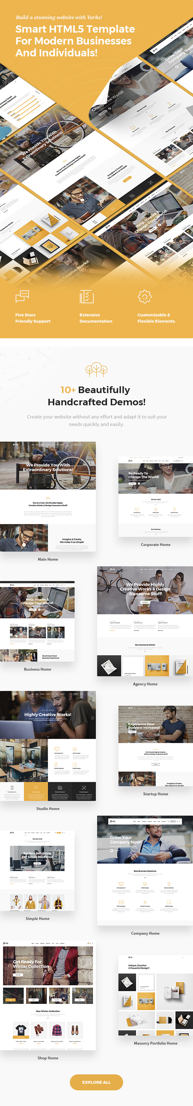 Yorks - Modern HTML5 Template For Businesses & Individuals - 5